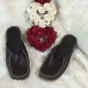 Soul of Africa leather mules